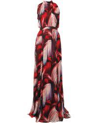 Matthew Williamson Palm Chiffon Gathered Gown - Lyst