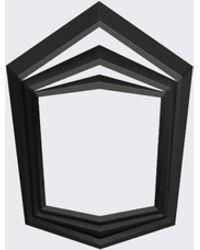 Vojd Studio Black Stepped Ring black - Lyst