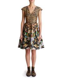 Temperley London - Lilla Leopard Structured Dress - Lyst