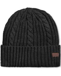 Levi's Oversize-cuff Cable Beanie - Lyst