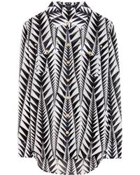 Balmain Printed Cotton Shirt - Lyst