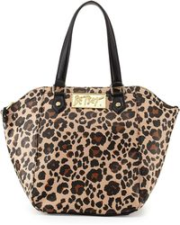 Betsey Johnson Leopard-Print Hexagon Tote Bag - Lyst