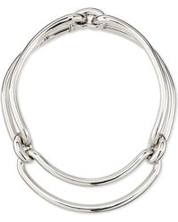 Balenciaga - Maillon Metal Clip Necklace - Lyst