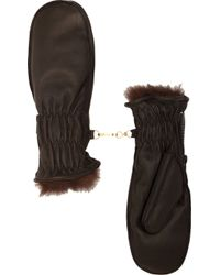 Barneys New York Furlined Ski Mittens - Lyst