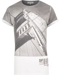 River Island White San Fran City Print T-Shirt - Lyst