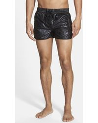 Diesel 'Bmbw-Reef' Coated And Studded Swim Trunks - Lyst