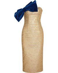 L'Wren Scott Metallic Jacquard and Velvet Dress