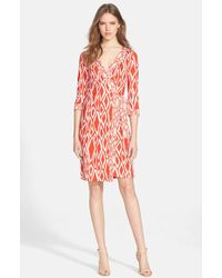 Diane von Furstenberg 'Julian' Silk Wrap Dress - Lyst
