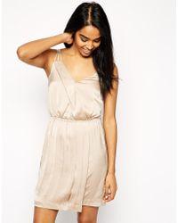 Vero Moda - Wrap Front Sleeveless Dress - Lyst
