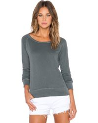 James Perse Classic Raglan Sweatshirt gray - Lyst