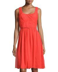 Carolina Herrera Silk Chiffon Dress - Lyst