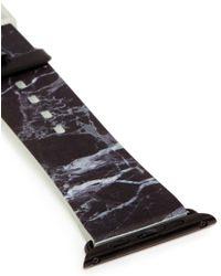 Casetify - Black Marble Print 42mm Apple Watch Bracelet - Lyst