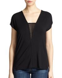 Tart Collections Diana Perforated Tee - Lyst