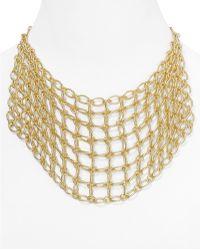 """Catherine Stein - Chain Mesh Bib Necklace, 16"""" - Lyst"""