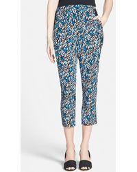 Trouvé Stripe Crop Pants blue - Lyst