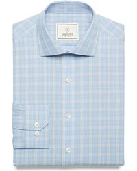 Todd Snyder Rockaway Multi Color Check Dress Shirt In Iris blue - Lyst