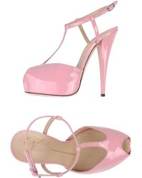 Giuseppe Zanotti Pink Sandals - Lyst