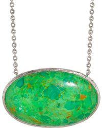 Elizabeth Showers - Oval Eastwest Green Turquoise Pendant Necklace - Lyst