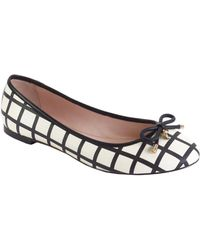 Kate Spade Willa Printed Leather Flats - Lyst