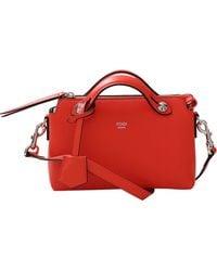 Fendi By The Way Mini Boston Bag red - Lyst