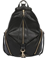 Rebecca Minkoff Julian Textured Leather Backpack - Black