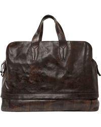 Officine Creative - Brushed Leather Duffle Bag - Lyst