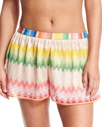 Missoni Mare Wavy-print Pull-on Coverup Shorts - Lyst