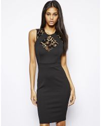 Tfnc Bodycon Dress with Lace Inserts - Lyst
