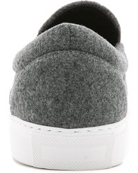 Mira Mikati Hands Up Patched Slip On Sneakers - Gray