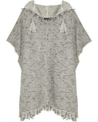 Isabel Marant Dexton Knitted Poncho - Lyst