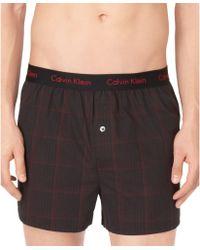 Calvin Klein Mens Woven Slim-fit Boxers - Lyst