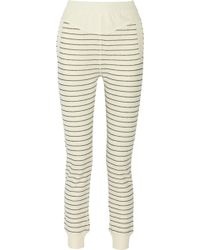 T By Alexander Wang Striped Cotton-blend Track Pants - Lyst