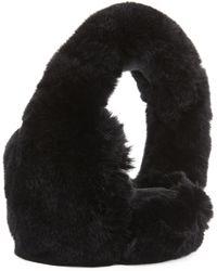 GP Luxe - Rabbit Fur Earmuffs - Lyst