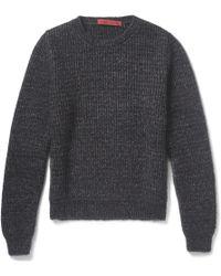 Raf Simons Flecked Chunkyknit Sweater - Lyst