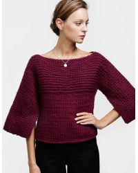 Wool And The Gang Fair Lady Cape purple - Lyst