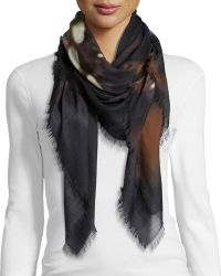 Givenchy Rottweiler Silk-Wool Square Scarf - Lyst