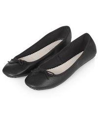 Topshop Vibrant Ballet Shoes black - Lyst