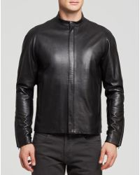 Theory Revolt Russo Leather Jacket - Lyst