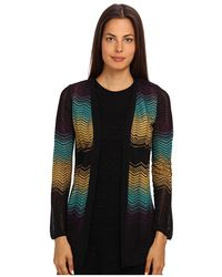 M Missoni Color Bock Ripple Knit Cardigan - Lyst