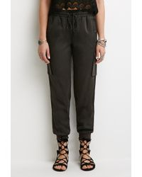 Forever 21 Woven Cargo Joggers - Lyst