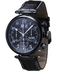 Ritmo Mundo - 'vintage' Chronograph Leather Strap Watch - Lyst
