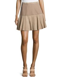Missoni Suede Woven Combo Skirt gray - Lyst