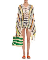 Anna Kosturova - Baja Striped Crochet Poncho - Lyst