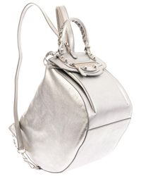 Balenciaga Giant Leather Backpack - Lyst