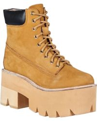 Jeffrey Campbell Nirvana Platform Boot Wheat Leather - Lyst