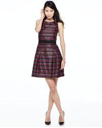 Trina Turk Broken Striped Brocade Dress - Lyst