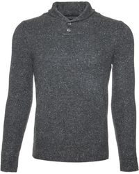 Scp | Shawl Collar Donegal Sweater | Lyst