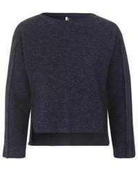 Topshop Premium Boiled Wool Sweat blue - Lyst