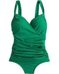 J.Crew Ruched Wrap One-Piece Swimsuit - Lyst