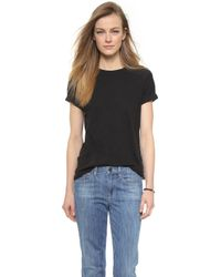 Vince Rolled Sleeve Tee - Black - Lyst